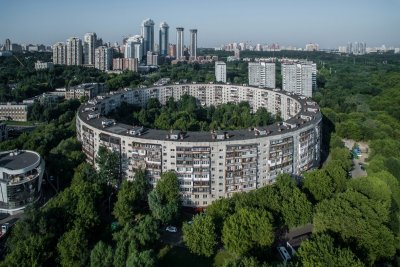 Spying on Moscow drone photography