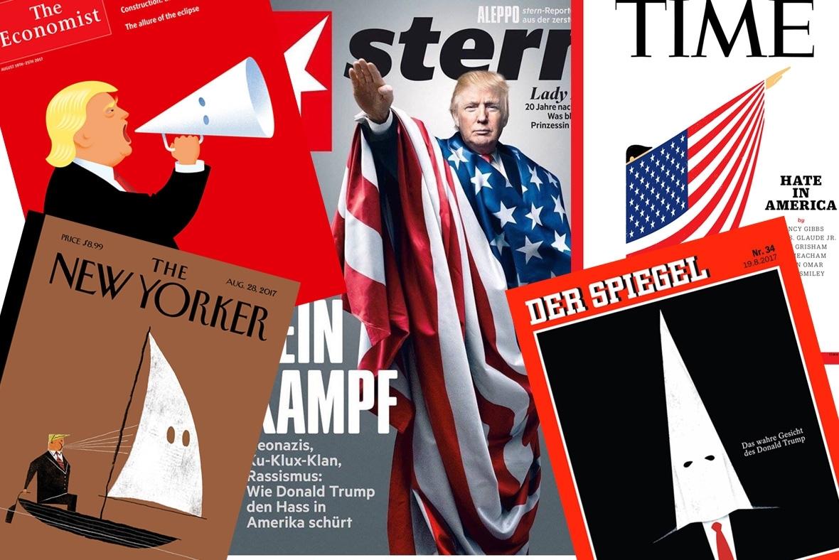 Trump racist magazine covers