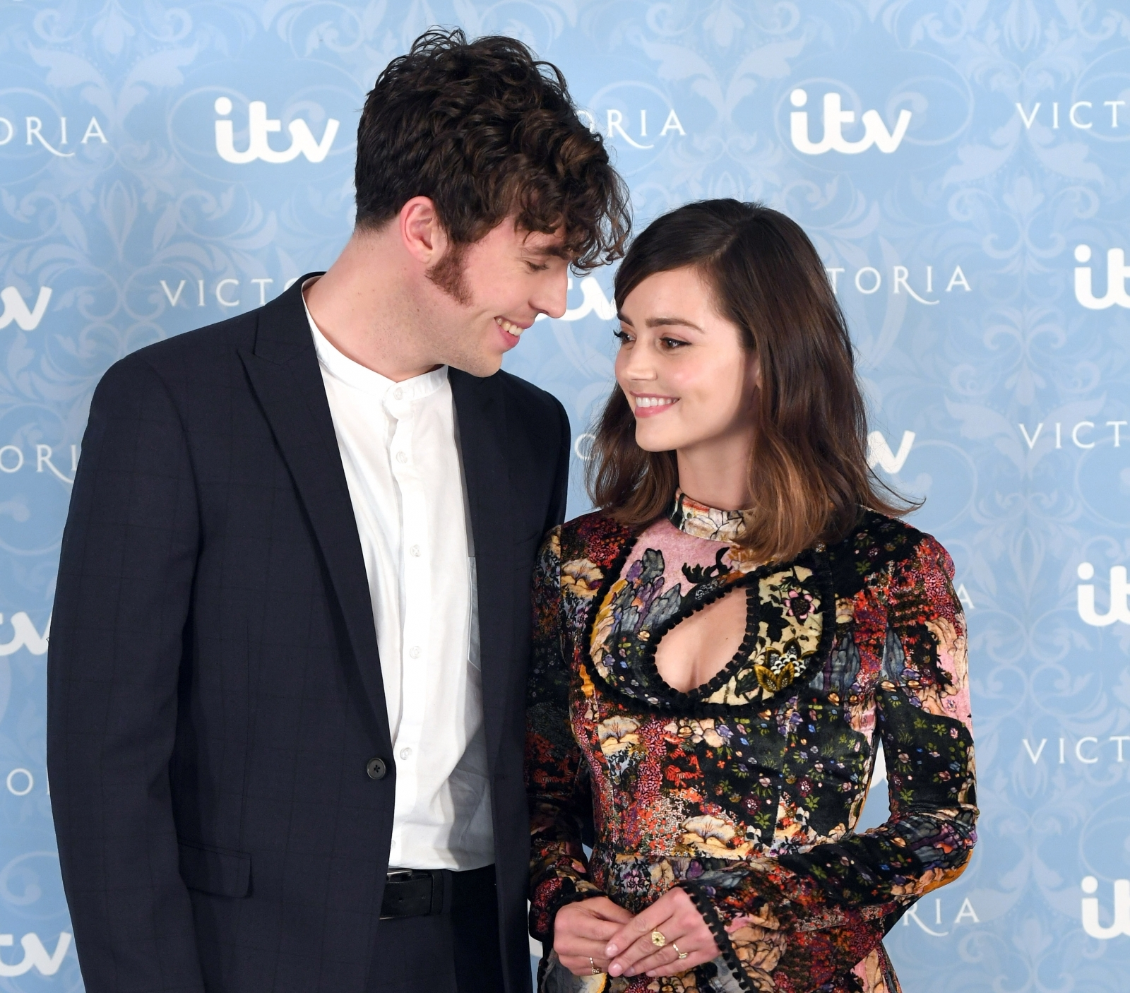 Victoria's Jenna Coleman hints at engagement to Tom Hughes
