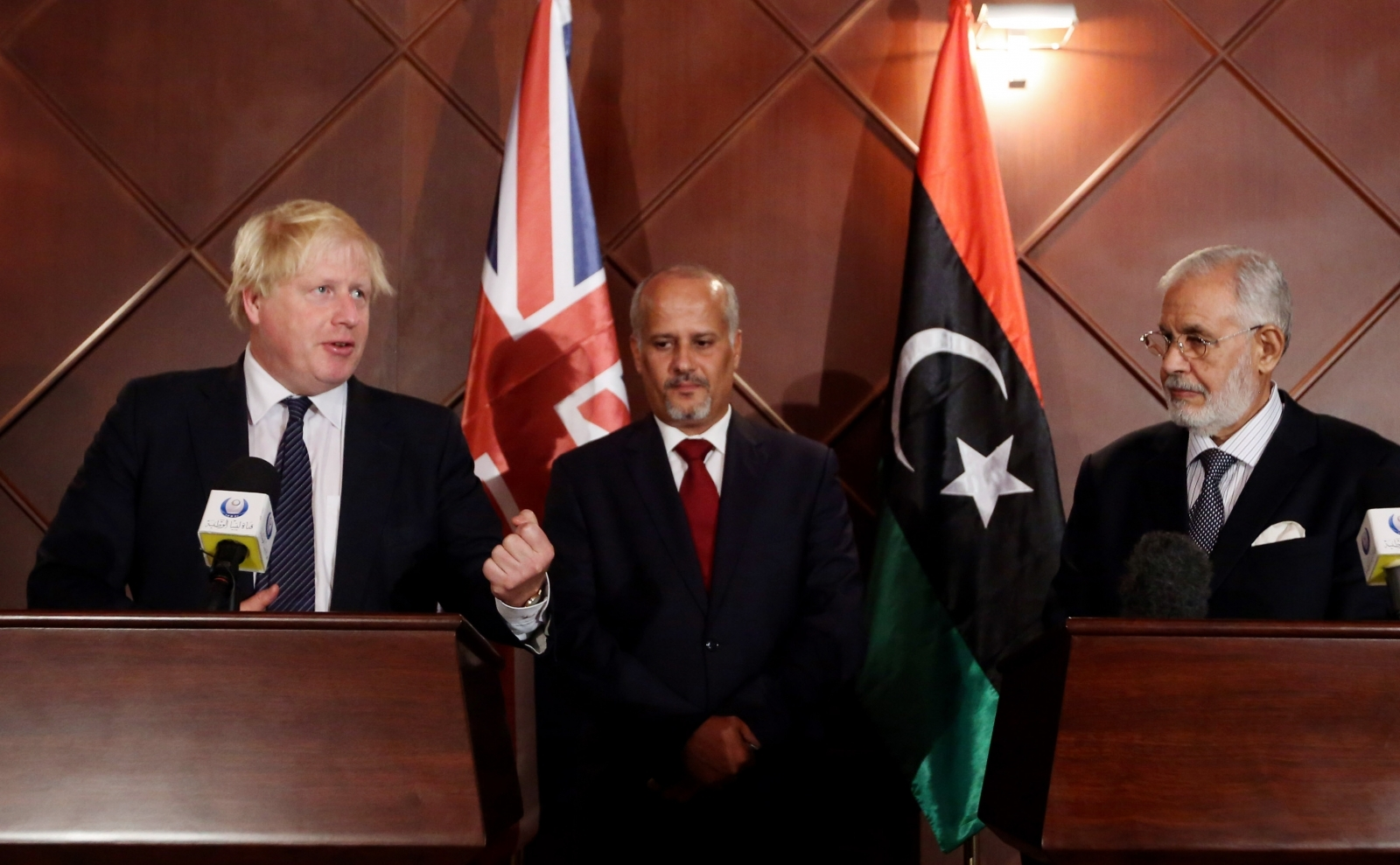 Boris Johnson in Libya
