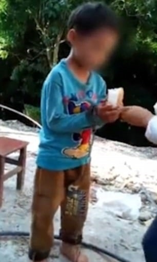 Viral video of boy shackled in chains