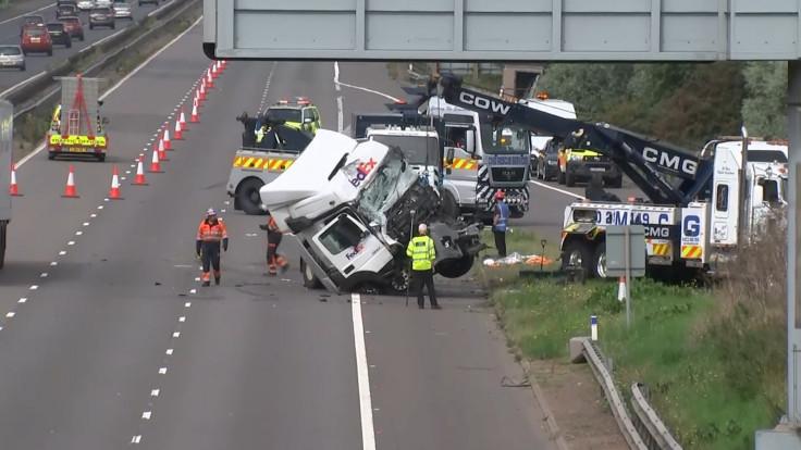 Drink driving arrest after M1 motorway carnage kills eight near Milton Keynes
