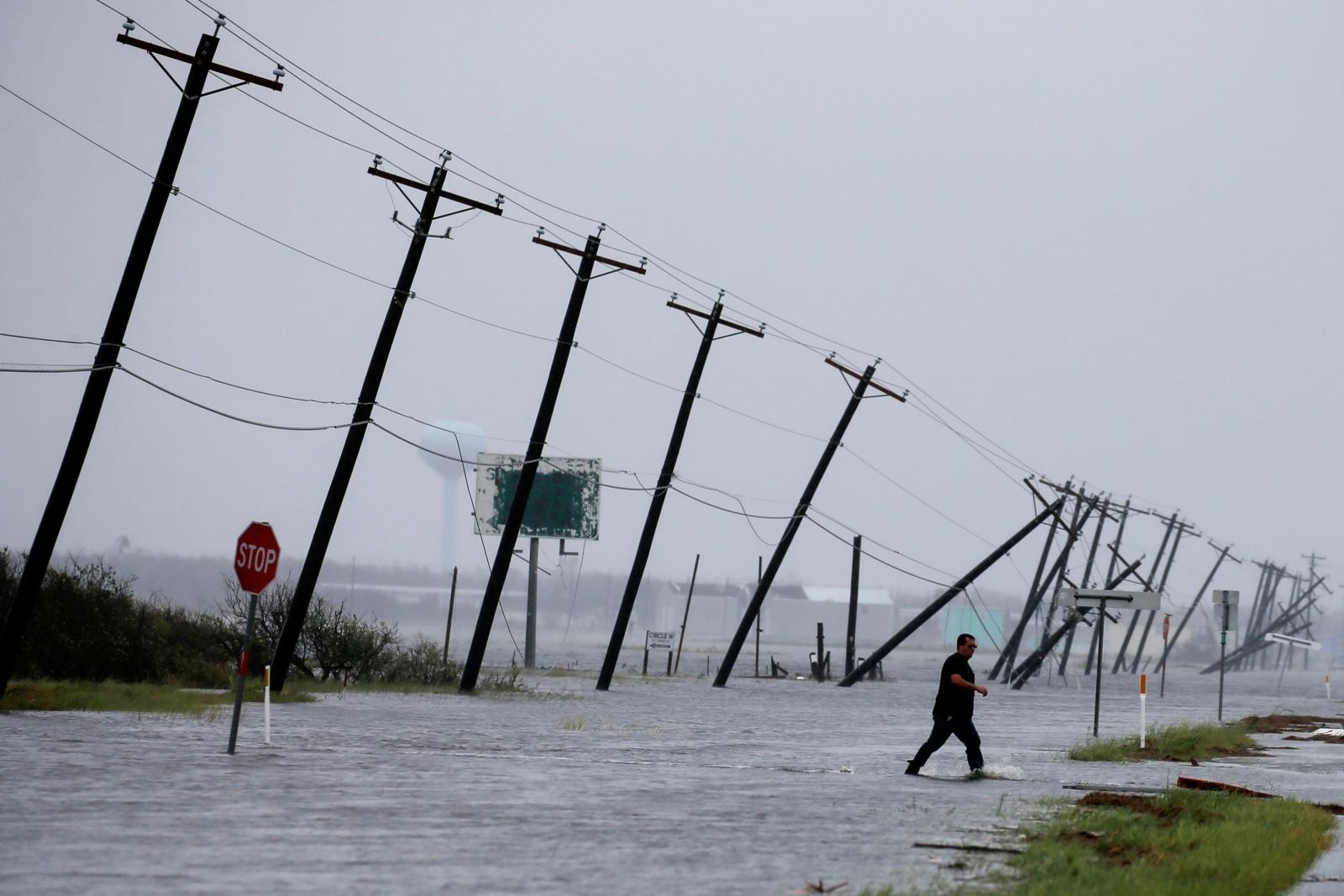 Hurricane Harvey damage