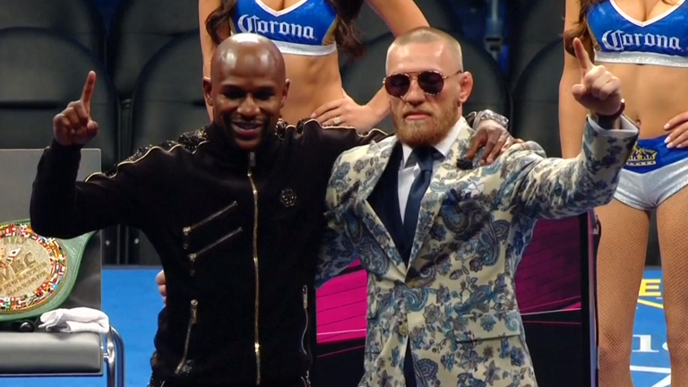 mayweather-and-mcgregor-react-to-boxers-victory