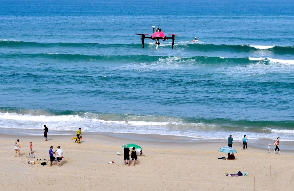 AI-powered drones will yell 'shark' to warn Australia's beach swimmers