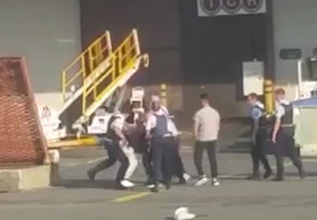 Ryanair drunk passengers fight police