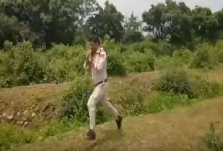 Brave Indian policeman