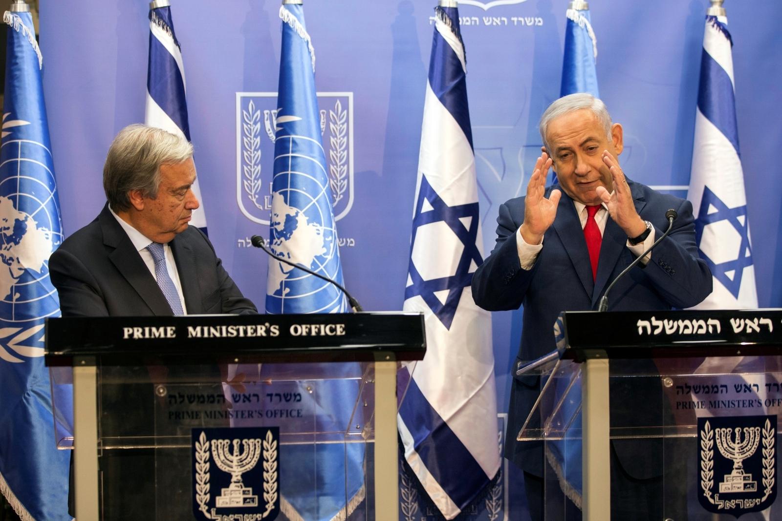 Benjamin Netanyahu Antonio Guterres