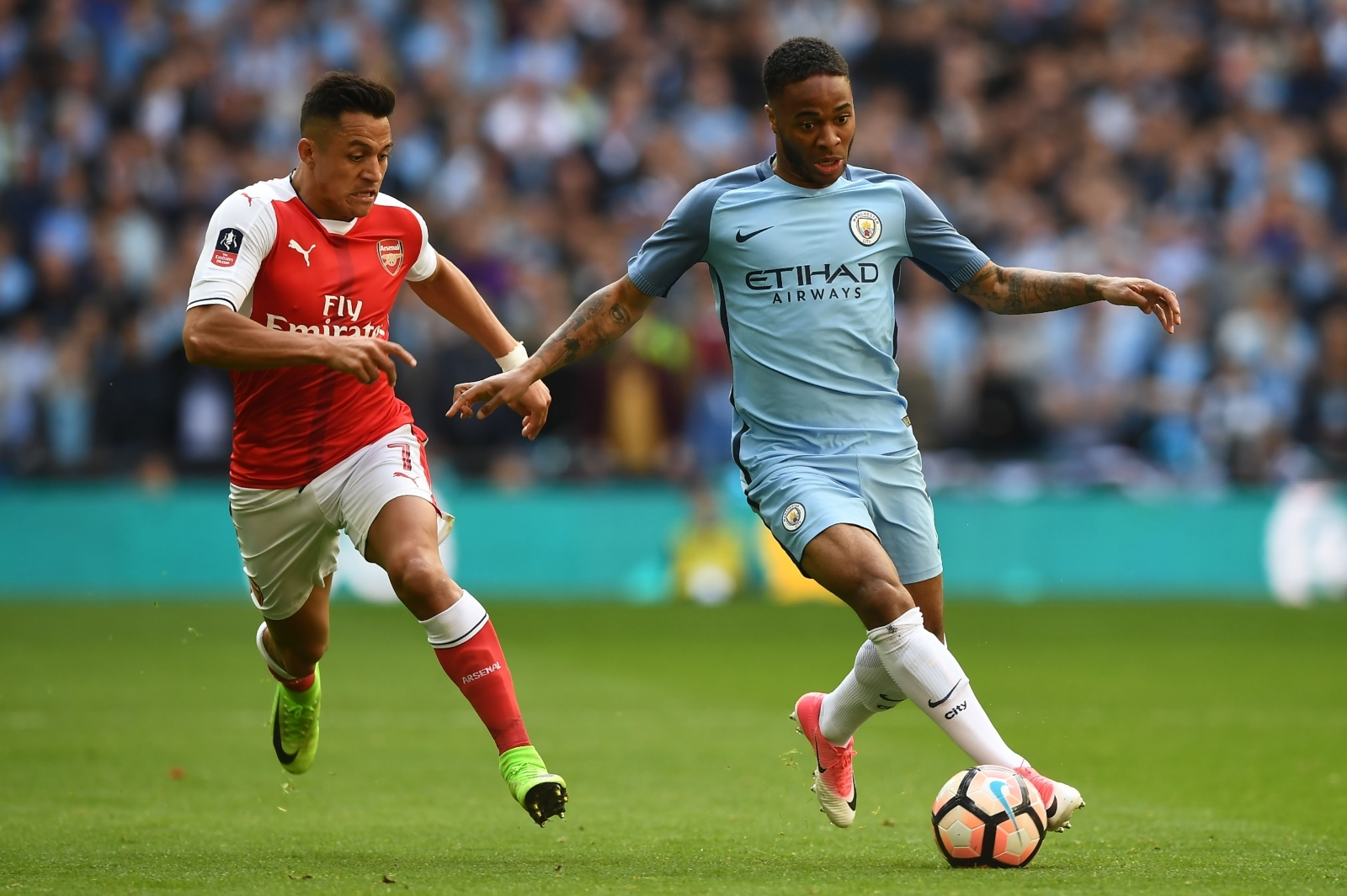 Alexis Sanchez and Raheem Sterling