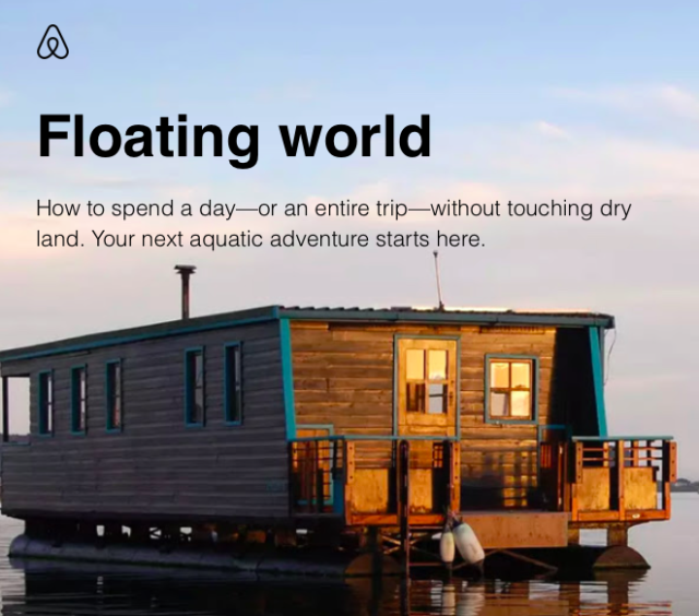 Airbnb floating accommodation email fail
