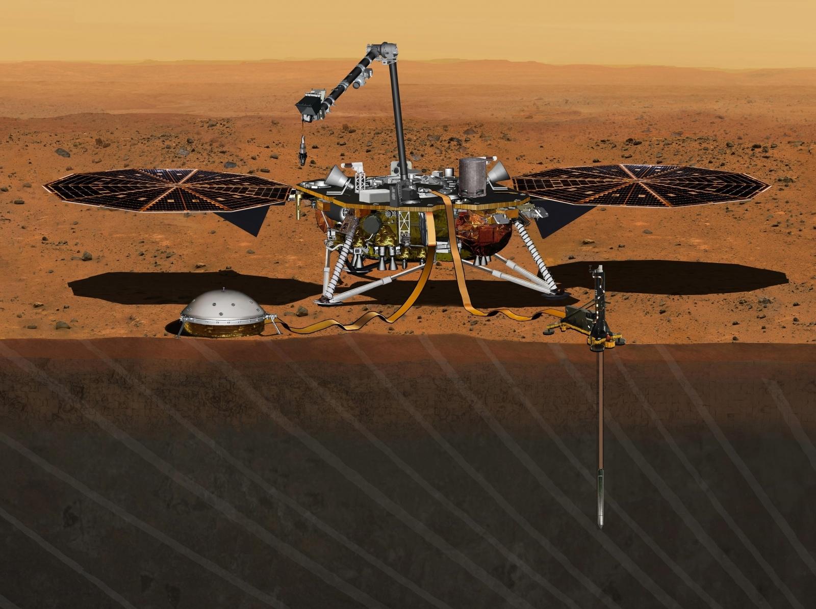 Mars InSight mission lander