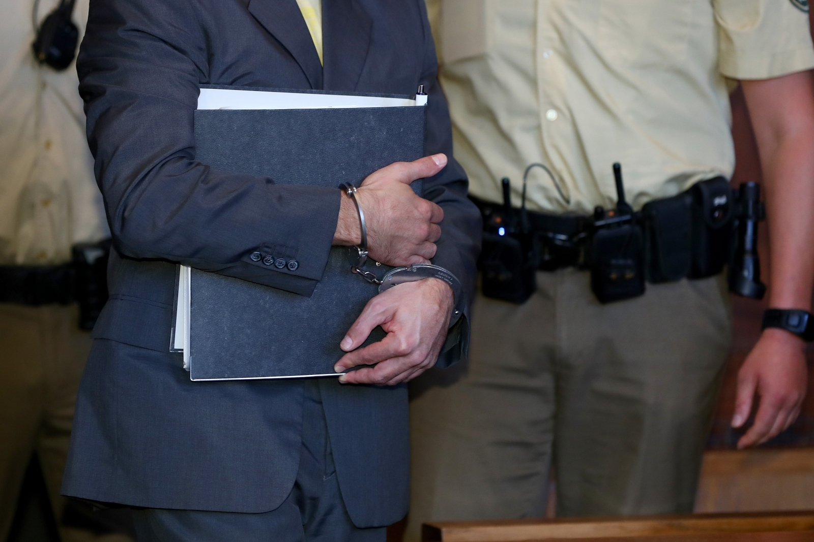 Wolfgang P., charged with the murder of a police officer, in state court in Nuremberg