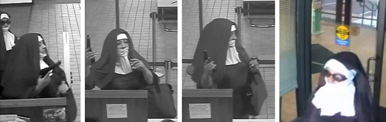 CCTV of bank robber nuns