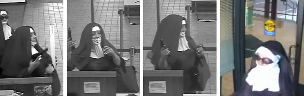 CCTV of bank robber nuns