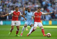 Raheem Sterling, Alexis Sanchez and Granit Xhaka