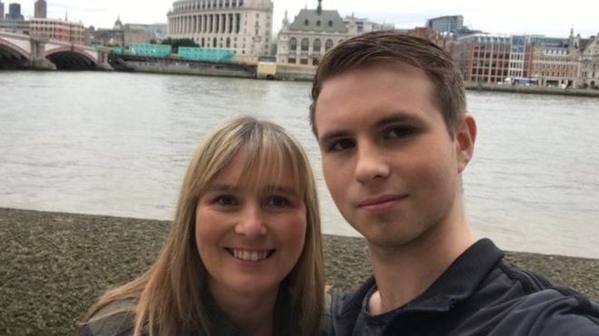 Shane Ridge (r) and his mother Sue Ebbs who was born and raised in Britain was wrongly told by the Home Office to leave the UK because he was not a British citizen