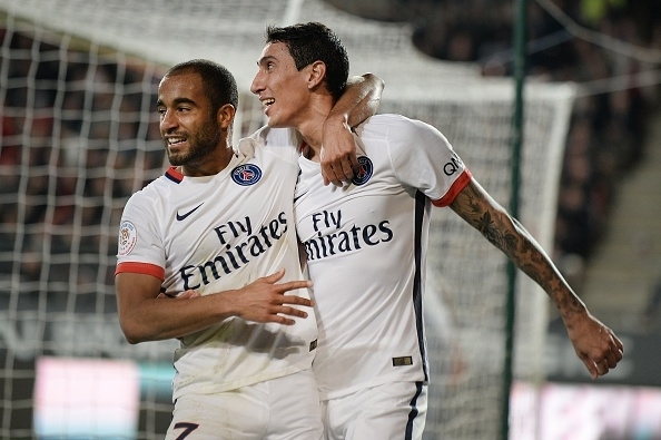 Lucas Moura and Angel Di Maria