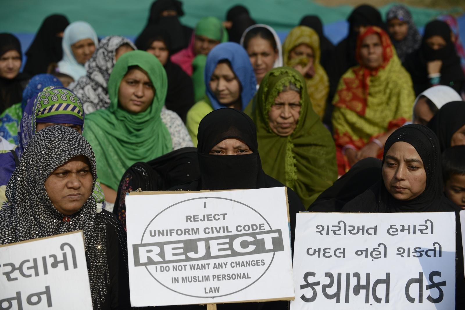 Triple talaq protest