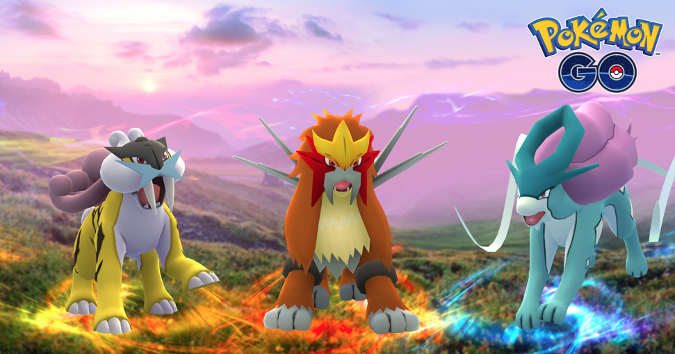 Pokemon Go Entei Suicune Raikou