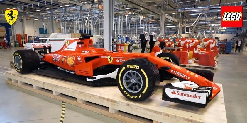 Lego Ferrari F1 car