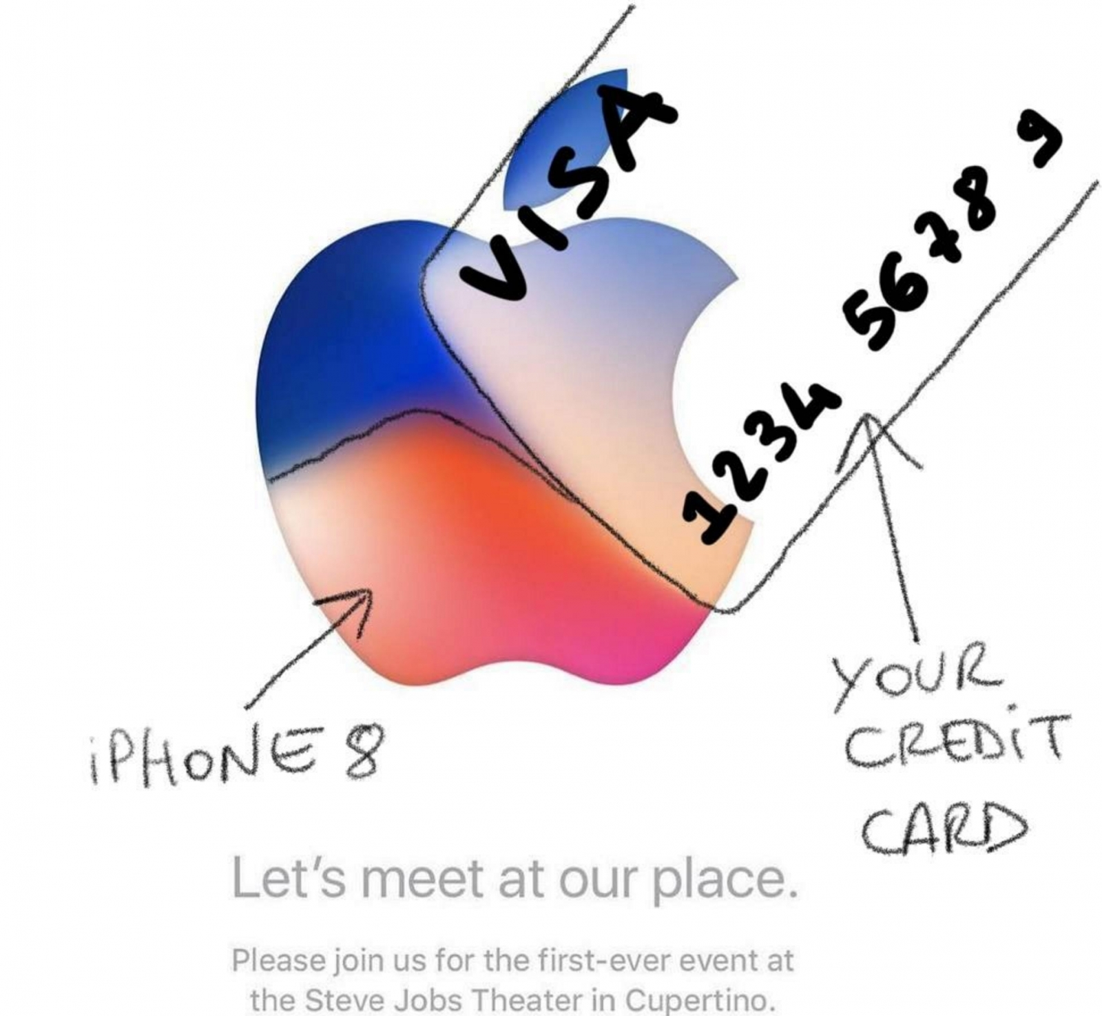 What are the secret messages hiding in apples iphone 8 event invite stopboris Images