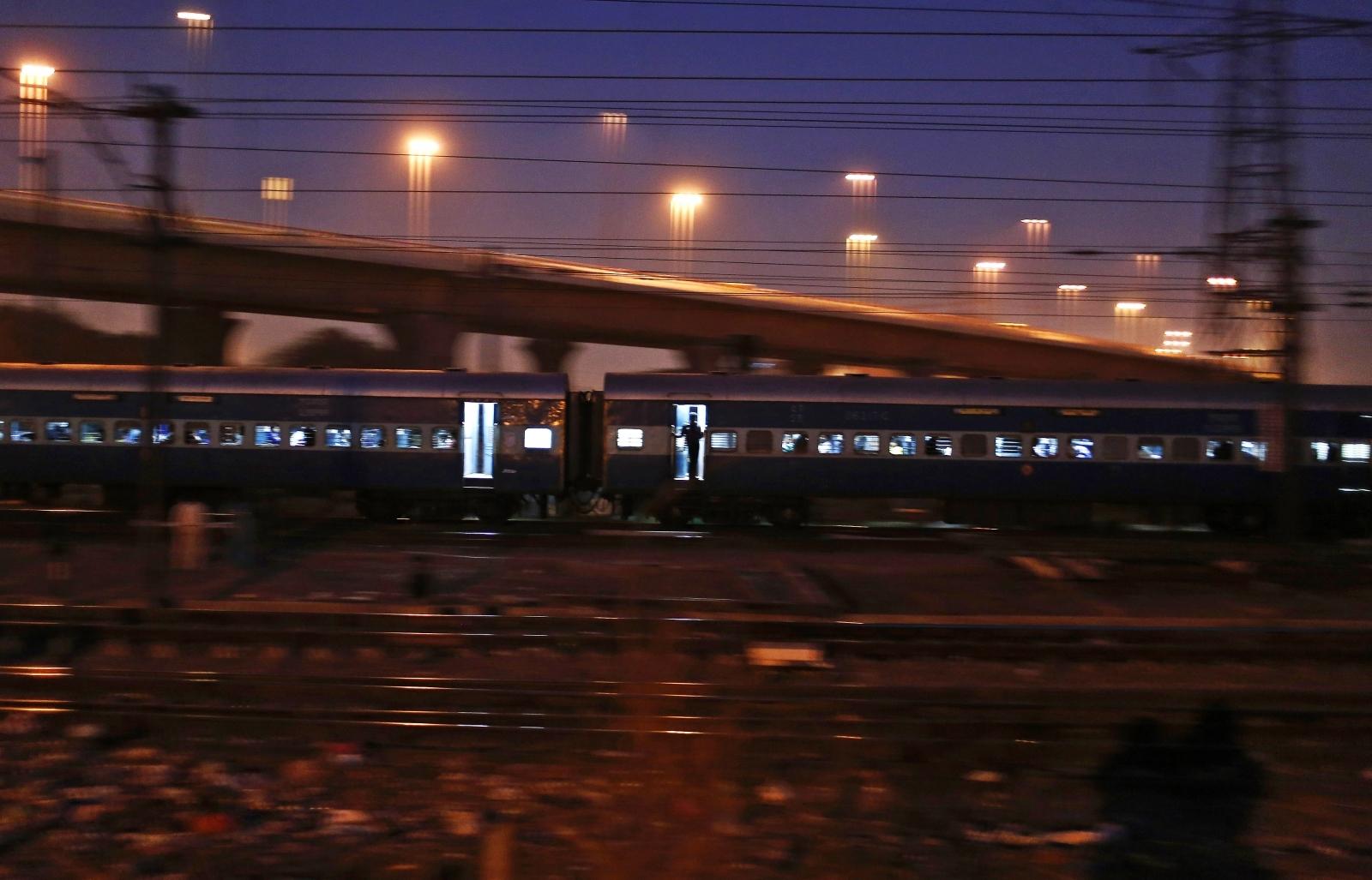 India moving train