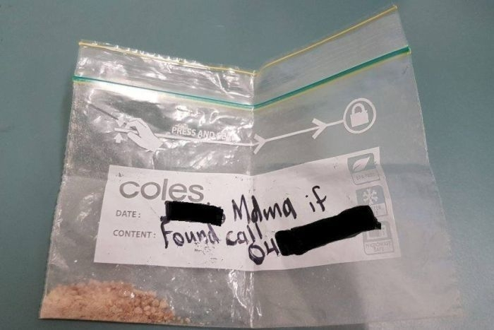 Drugs found with contact details