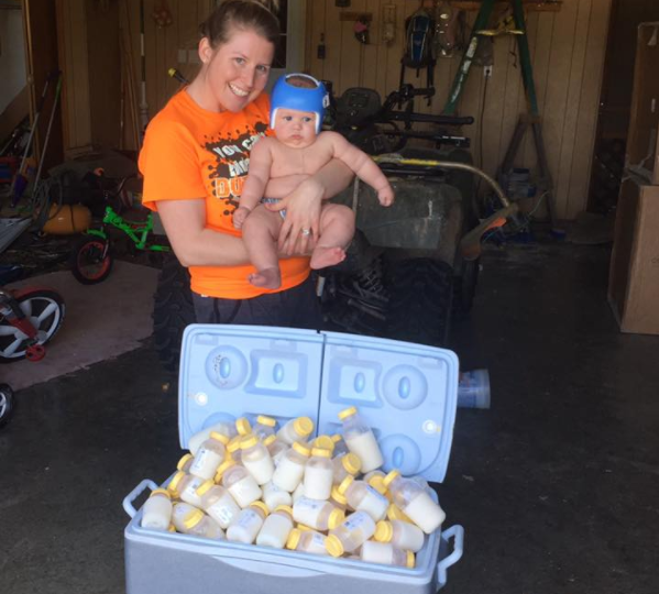 Mom Donates 1000 Ounces of Breast Milk to Texas Flood Victims
