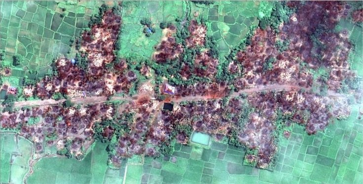 Rakhine state destruction