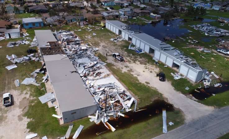 Hurricane Harvey destruction