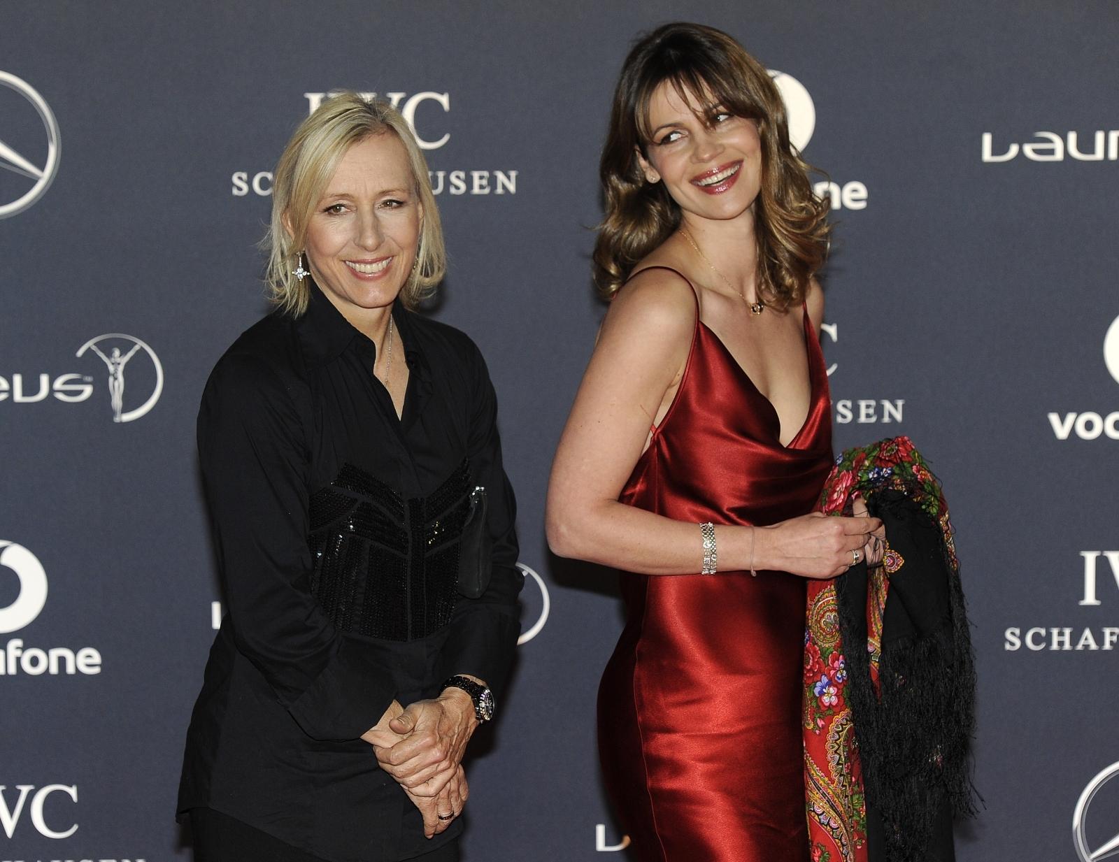 Martina Navratilova and wife Julia Lemigova