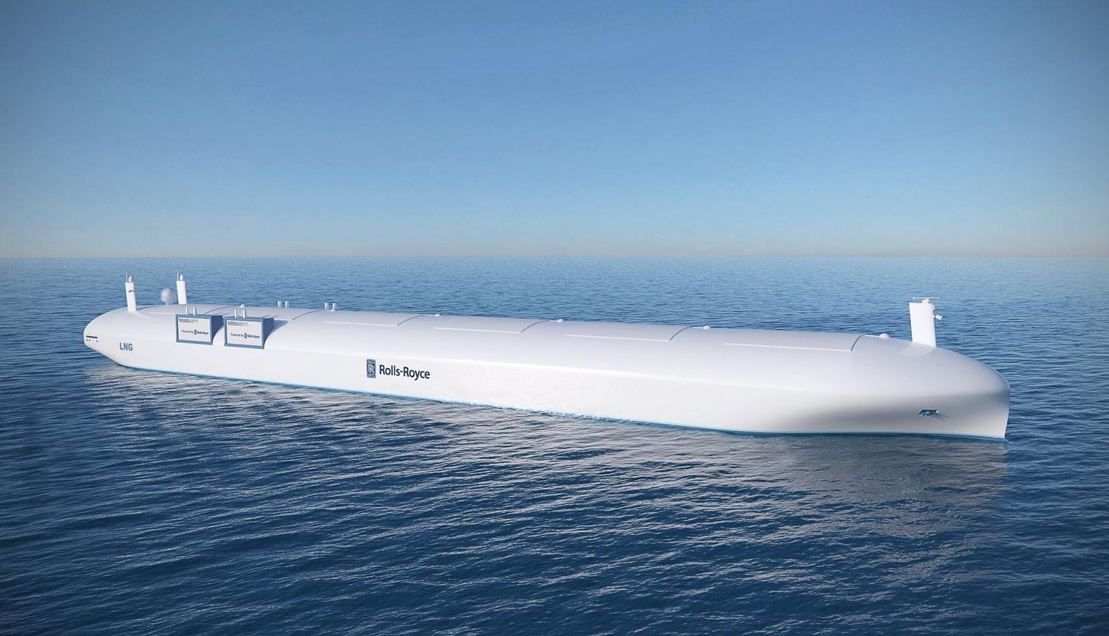Rolls-Royce autonomous robot ship