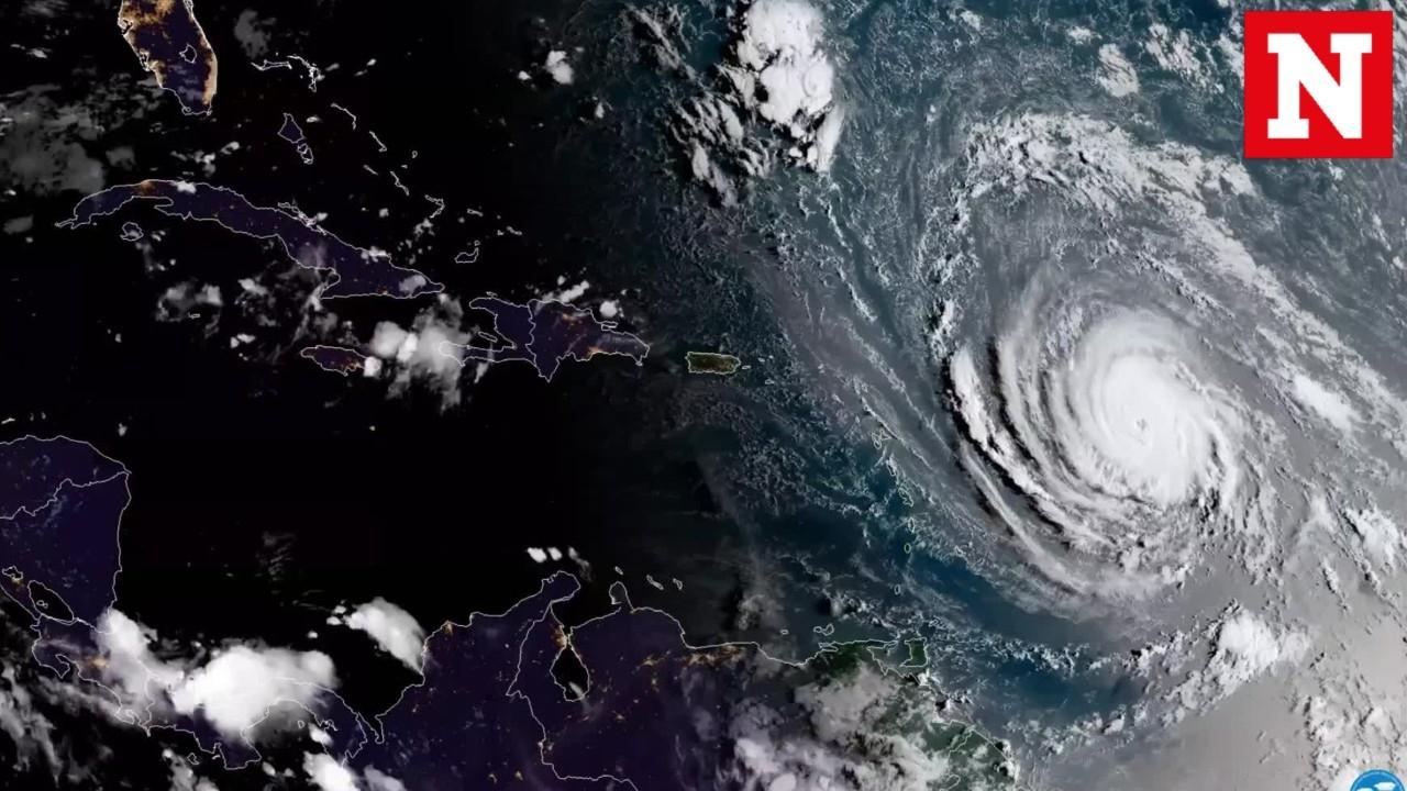 Category 5 Tornado : Category hurricane irma makes landfall in antigua and