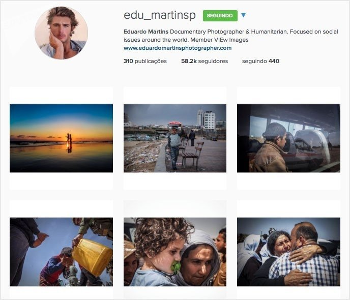 A screenshot of Martins' Instagram page, which has now been closed down