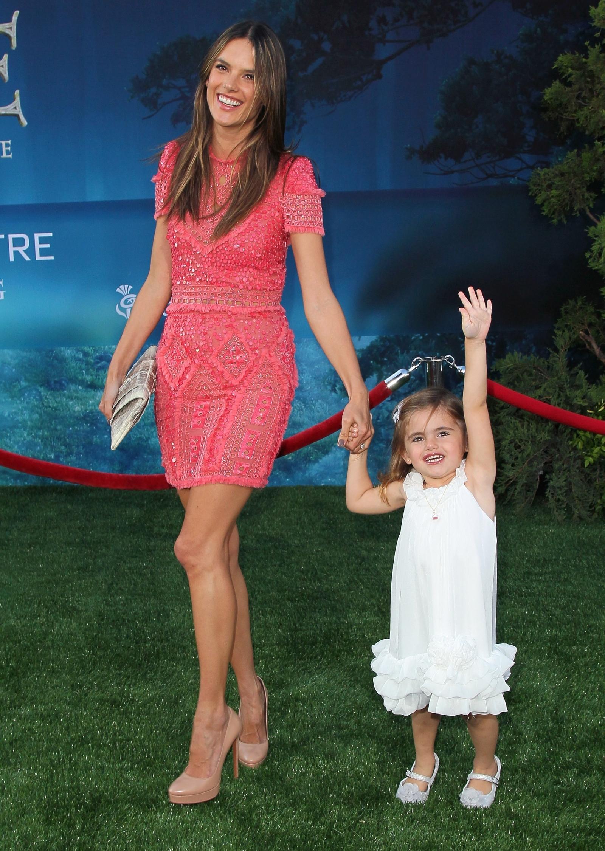 Alessandra Ambrosio and daughter