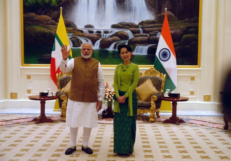 Modi with Aung San Suu Kyi