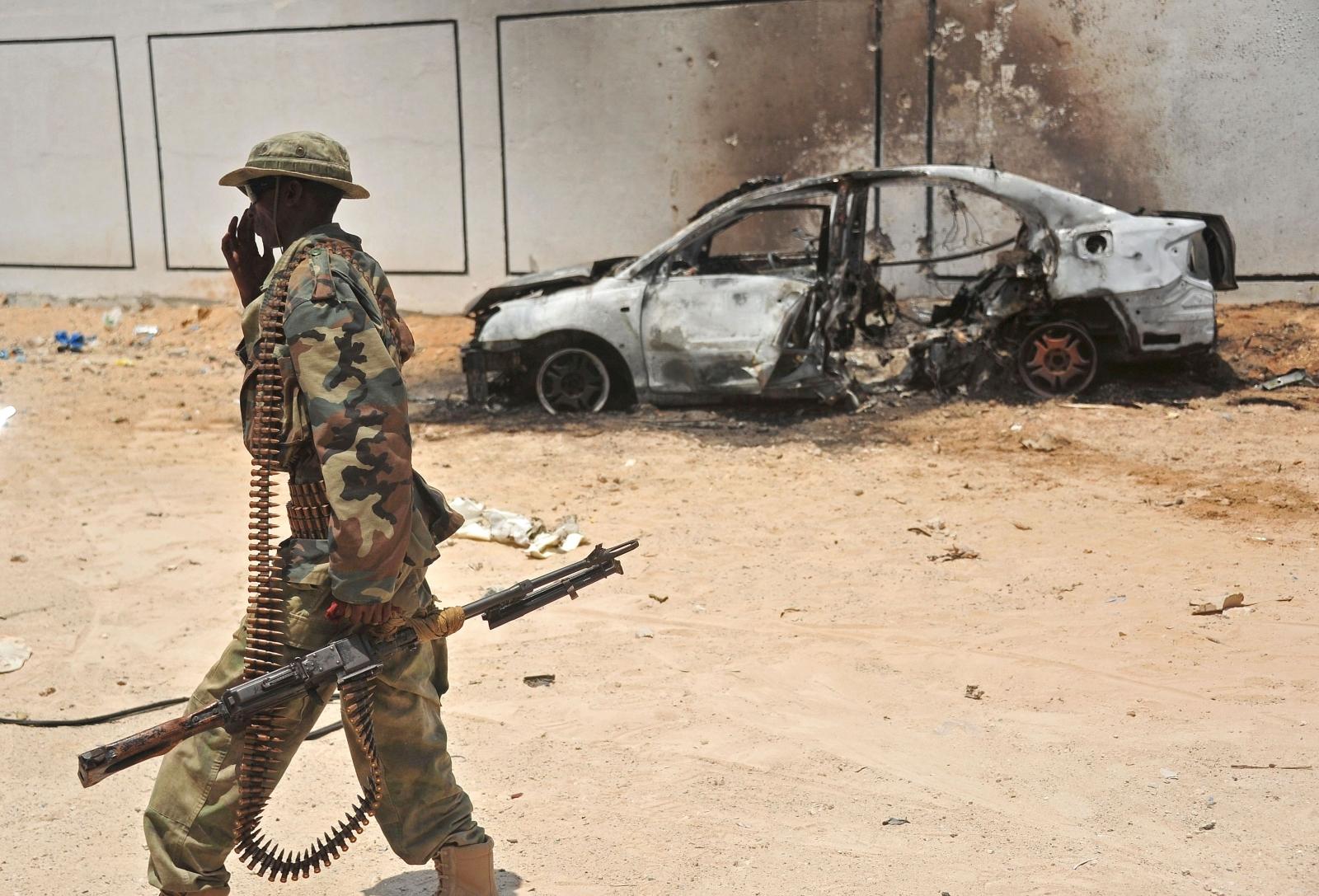 Somali Soldier al-shabab