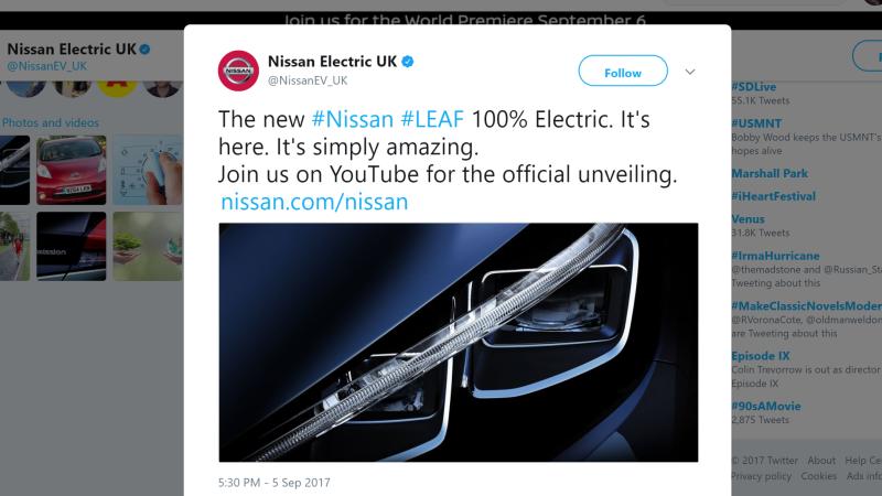 Nissan tweet