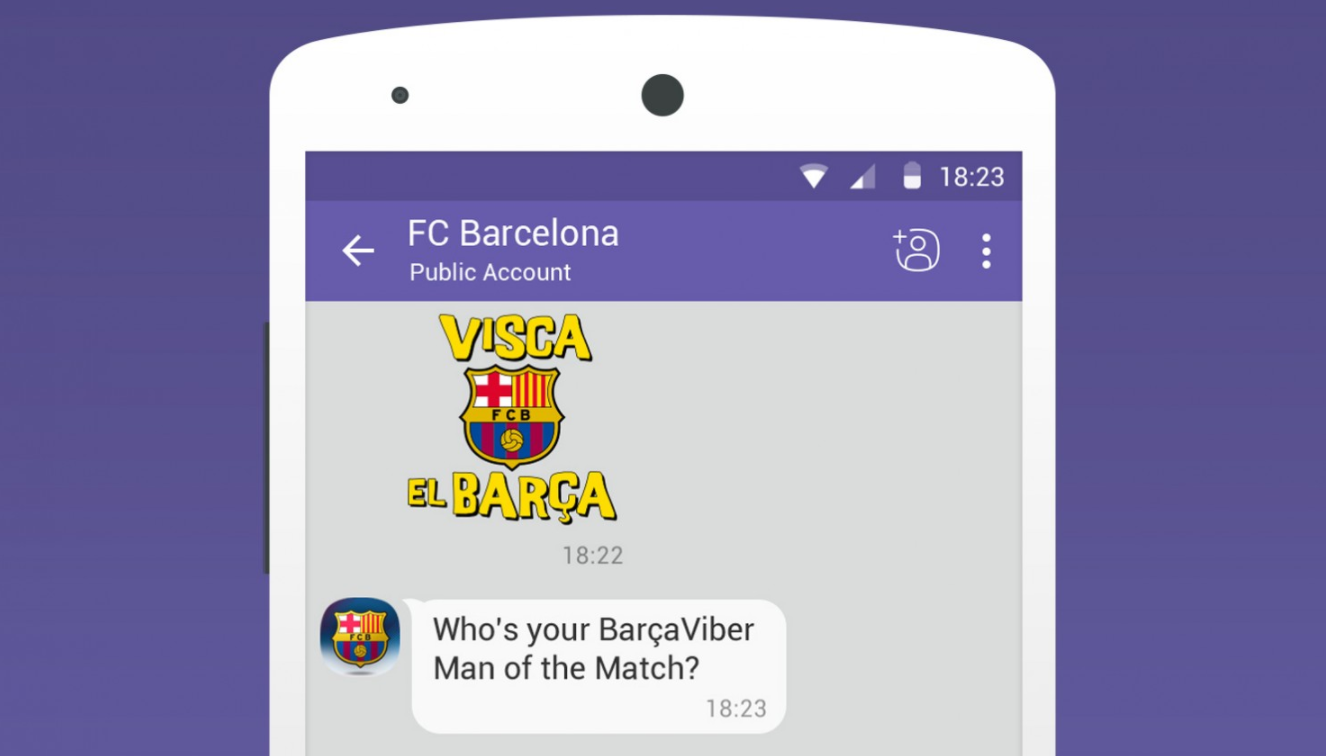 FC Barcelona Viber chatbot
