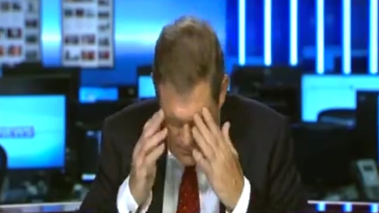 Sky News reporter Jon Craig loses the plot live on air