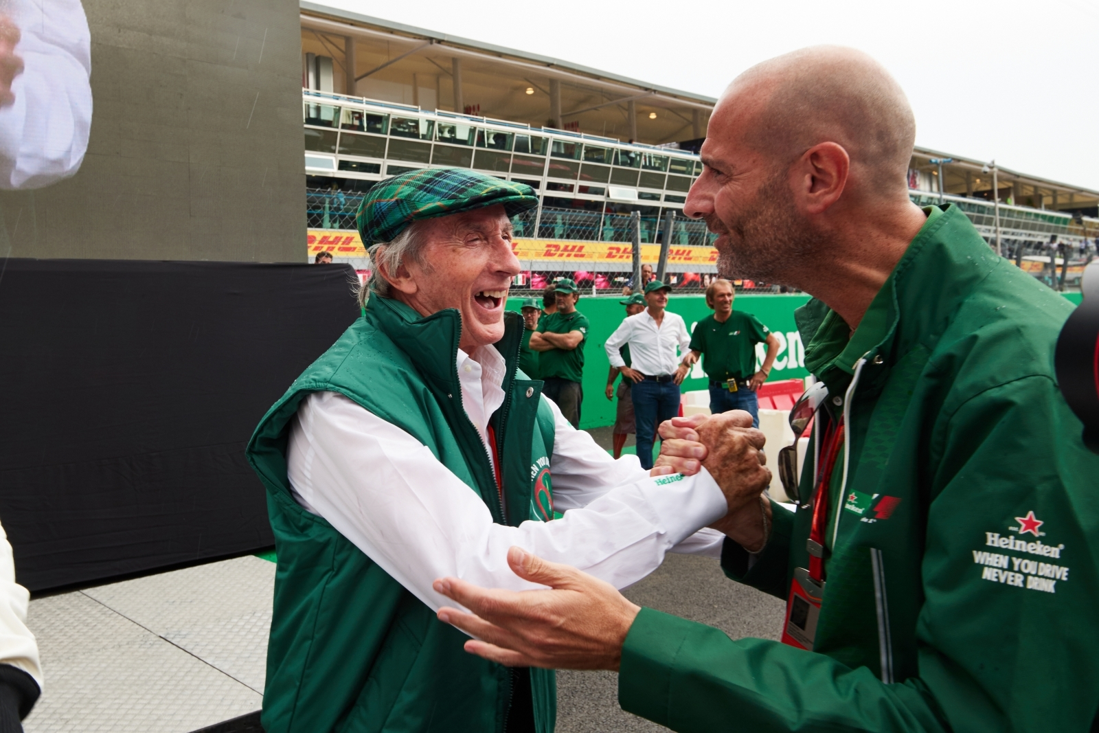 Sir Jackie Stewart with Gianluca Di Tondo