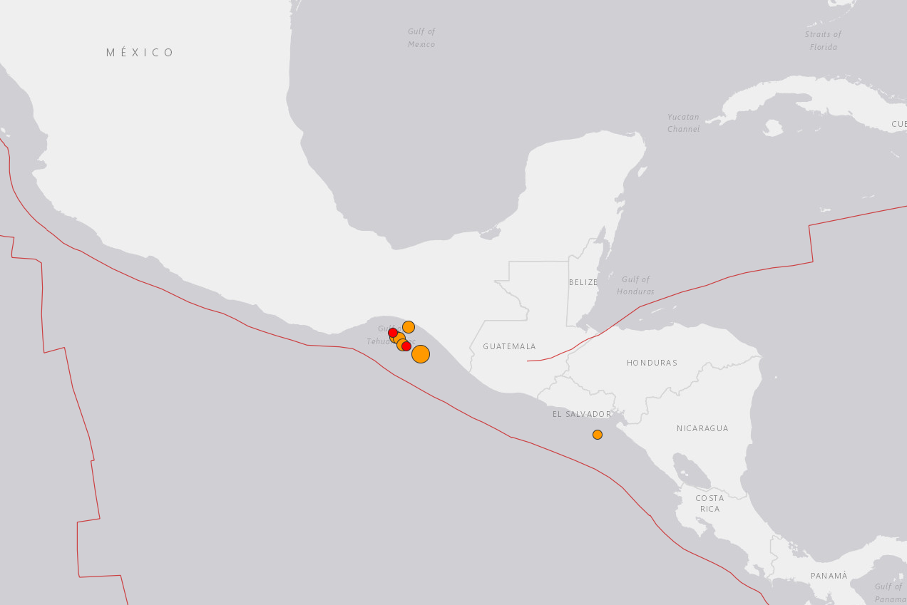 Earthquake Mexico 8 September 2017