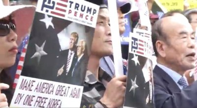 anti-Kim Jong-un protest