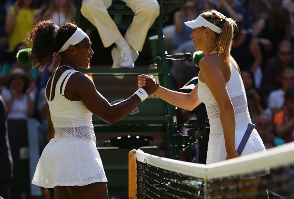 Serena Williams and Maria Sharapova