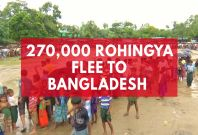 270,000 Rohingya Flee To Bangladesh After Weeks Of Violence