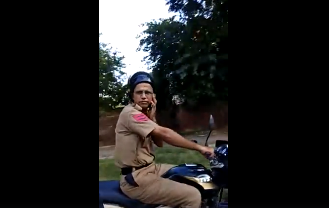 Indian police head constable gets suspended