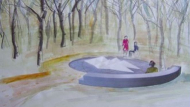 The design for, Still Water, a memorial dedicated to UK victims of overseas terrorism by Alison Wilding and Adam Kershaw