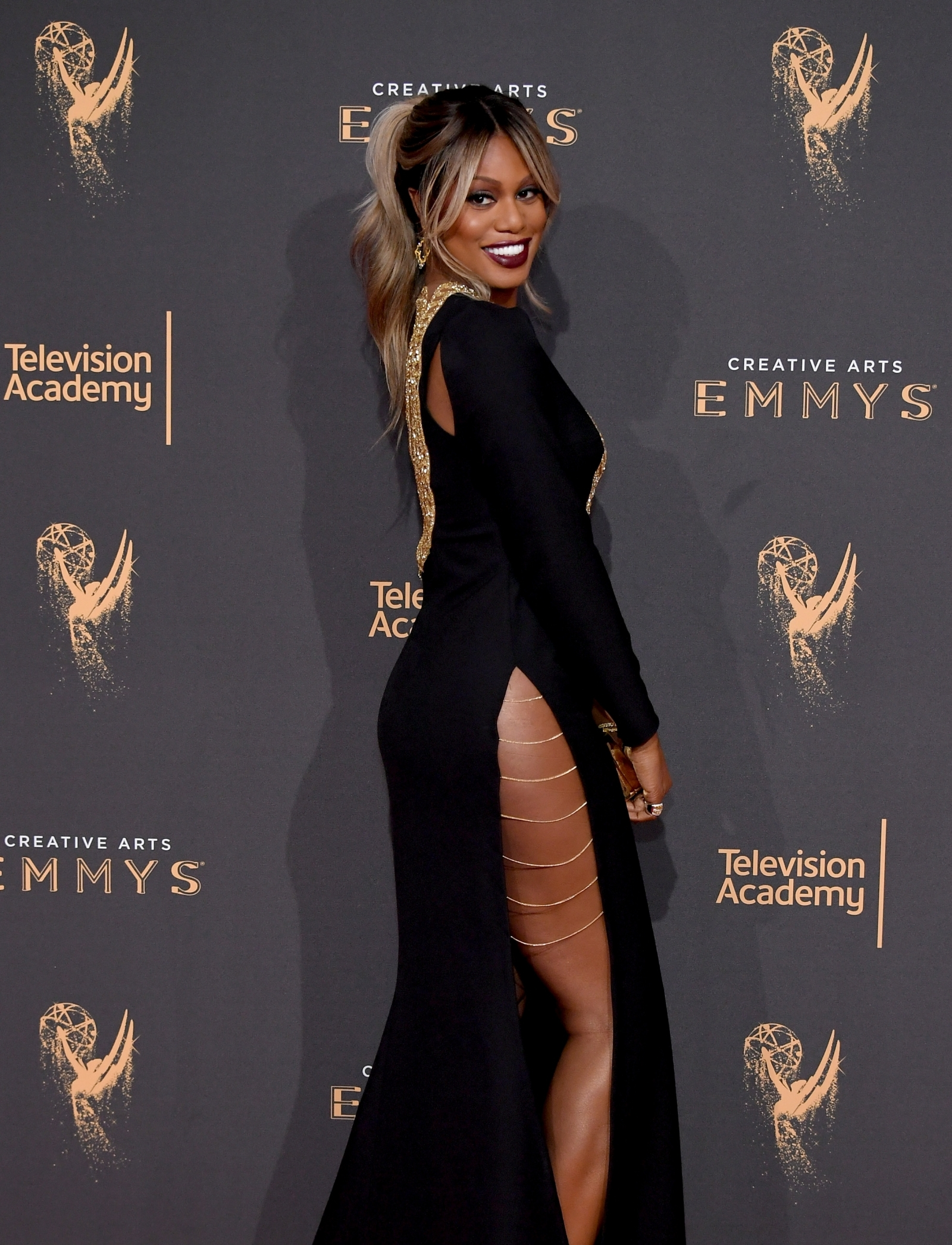 Laverne Cox Shows Off Toned Booty In Revealing Gown At