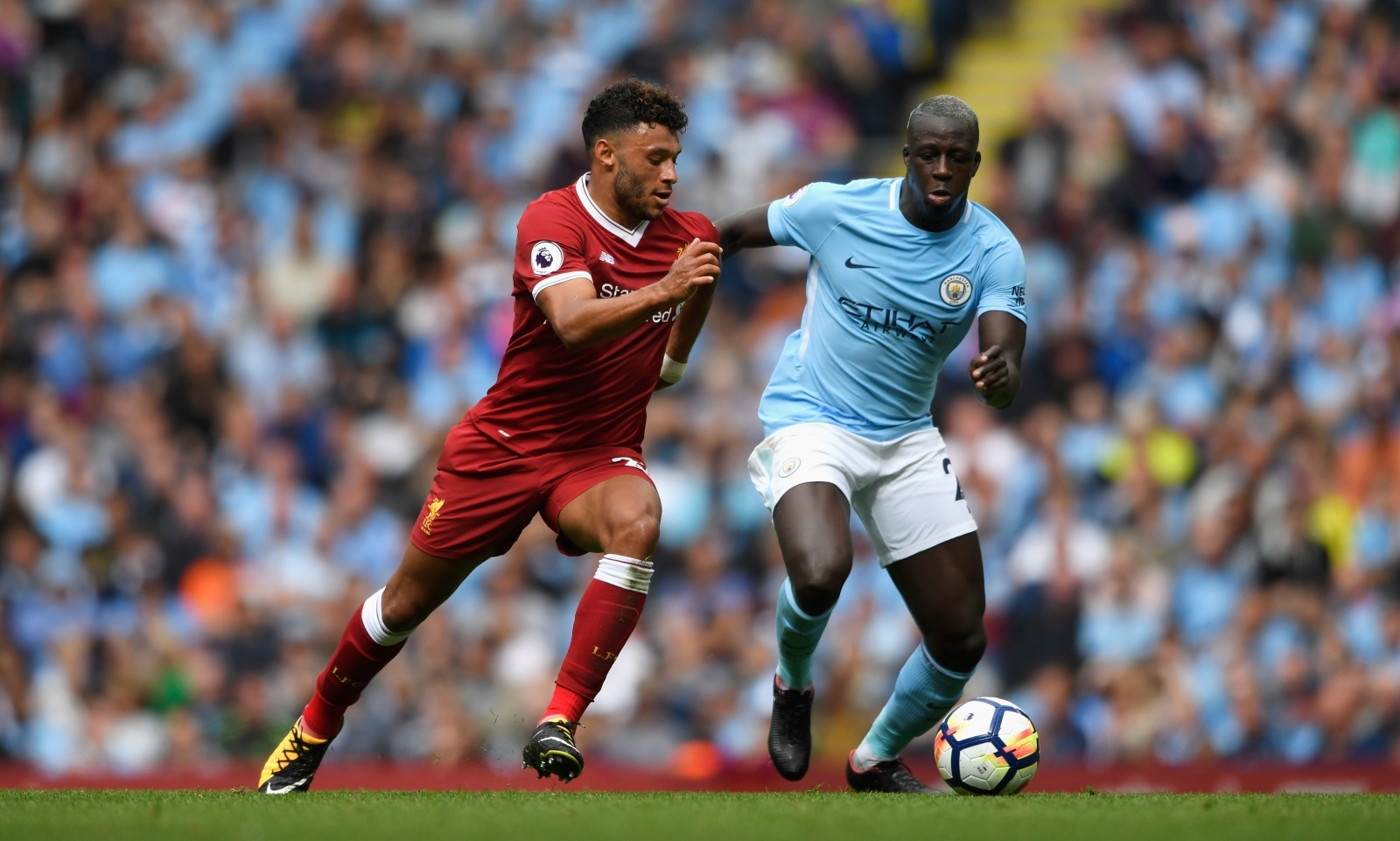 Alex Oxlade-Chamberlain and Benjamin Mendy