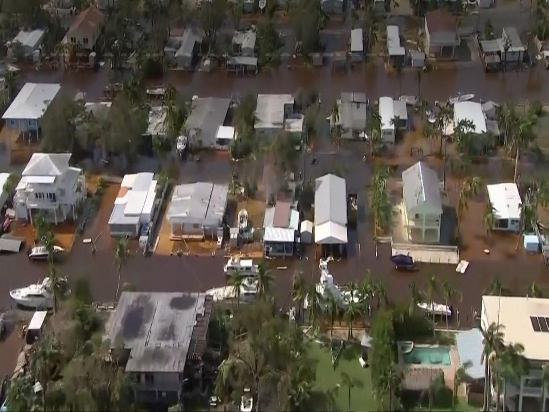 Aerial Footage: Irma Floods Florida